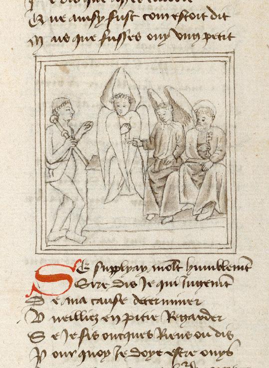 Pèlerinage de l'âme - Ame du pèlerin plaidant sa cause devant saint Michel (L')_0