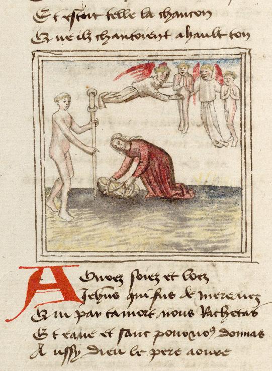 Pèlerinage de l'âme - Ames conduites au ciel par leurs anges gardiens_0