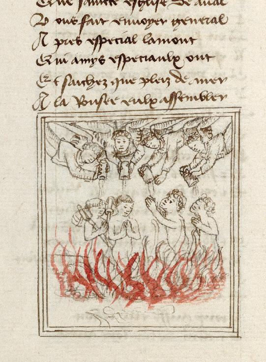 Pèlerinage de l'âme - Anges déversant des pots d'onguent sur les âmes du Purgatoire_0