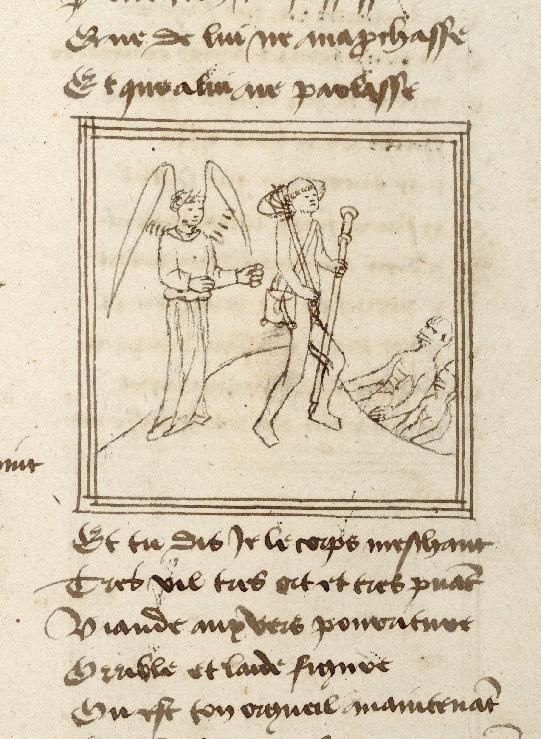 Pèlerinage de l'âme - Ame du pèlerin et son ange gardien cheminant vers l'Enfer (L')_0