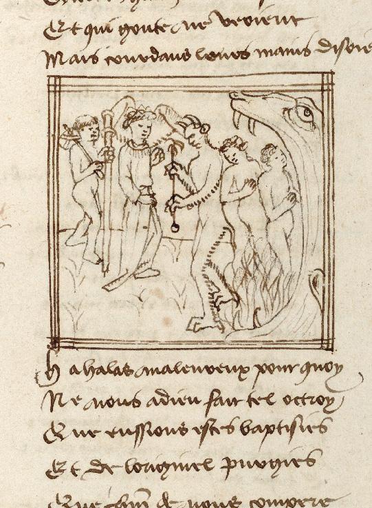 Pèlerinage de l'âme - Ame du pèlerin et son ange gardien arrivant en Enfer (L')_0