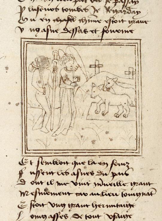 Pèlerinage de l'âme - Ame du pèlerin devant des tombes à l'effigie d'un âne (L')_0