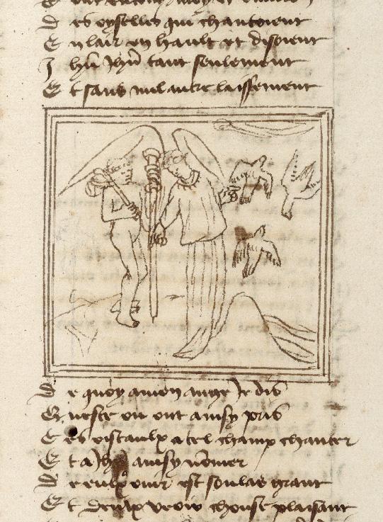Pèlerinage de l'âme - Ange gardien montrant à l'âme du pèlerin des oiseaux (L')_0