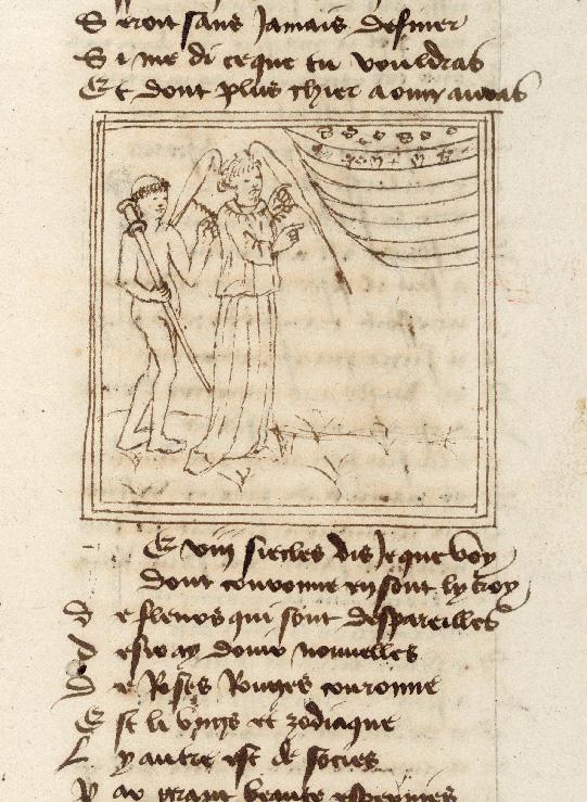 Pèlerinage de l'âme - Ange gardien montrant à l'âme du pèlerin la hiérarchie des cieux (L')_0