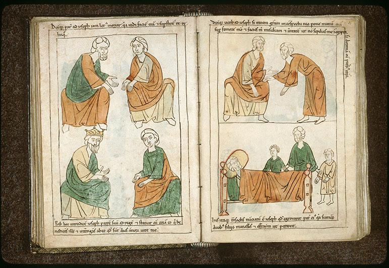 Bible en images - Pharaon demandant à Jacob son âge_0