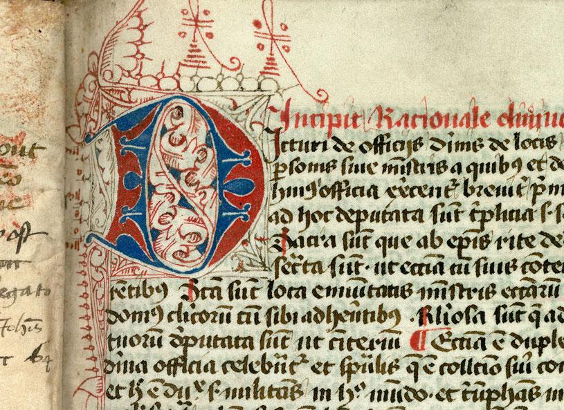 Collectorium Rationalis divinorum officiorum - Initiale filigranée_0