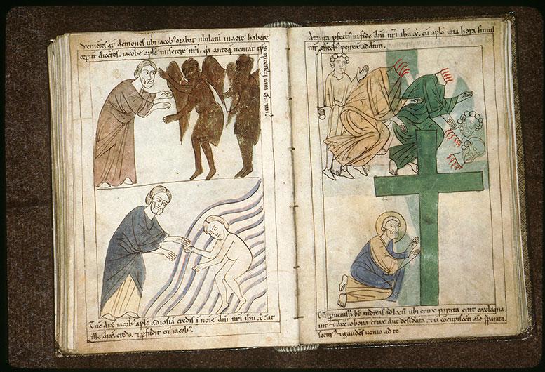 Bible en images - Saint André adorant la croix de son supplice_0