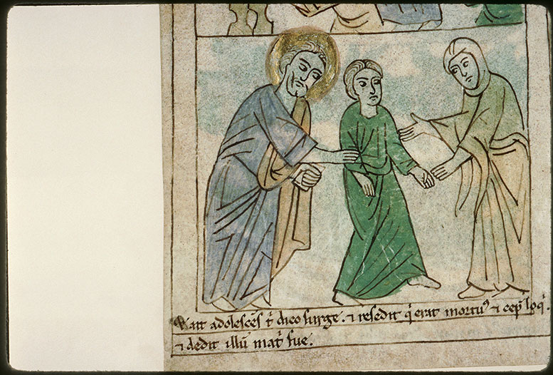 Bible en images - Jésus rendant le fils de la veuve de Naïn à sa mère_0