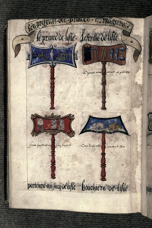 Recueil des antiquités de Valenciennes - Pancarte-rébus du prince l'Estrille de Lille_0