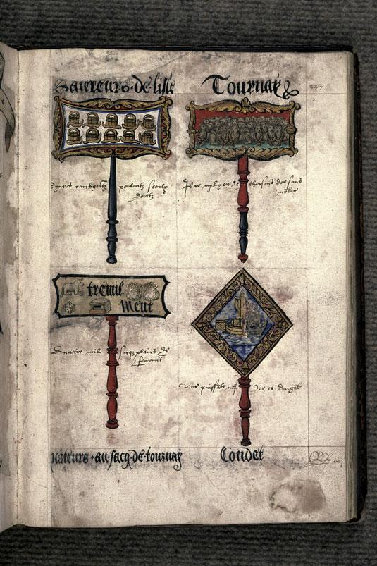 Recueil des antiquités de Valenciennes - Pancarte-rébus du prince de Tournai_0