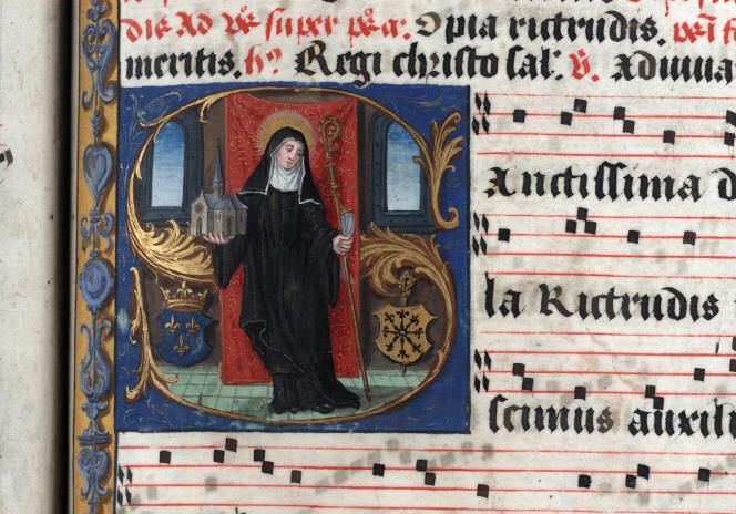 Antiphonaire à l'usage de l'abbaye Sainte-Rictrude de Marchiennes - Sainte Rictrude_0
