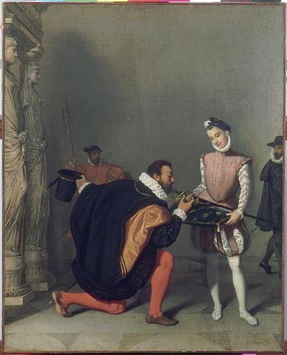 Don Pedro de Tolède baisant l'épée d'Henri IV_0