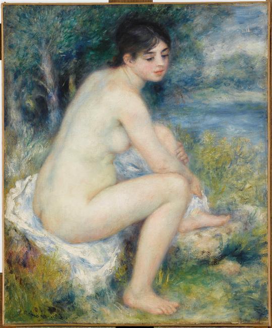 Femme nue dans un paysage_0