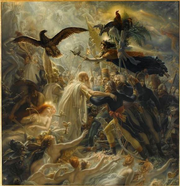 Apothéose des héros français morts pour la patrie pendant la guerre de la liberté ; hommage offert à Napoléon Bonaparte_0