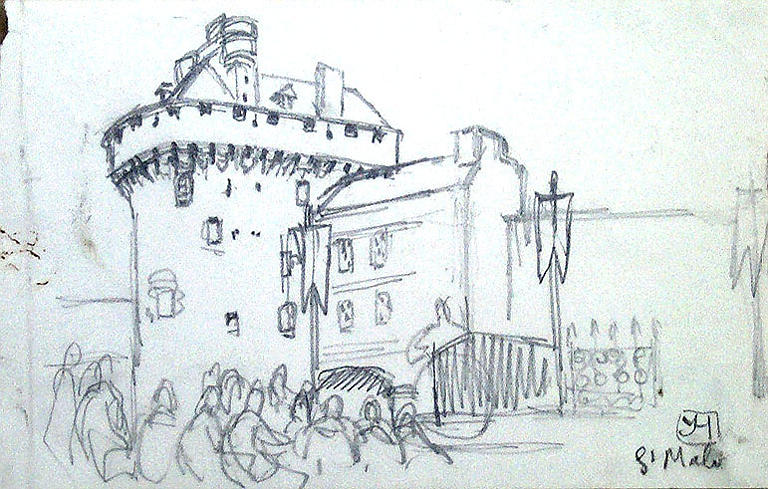 Saint Malo, devant Quic en Grogne (esquisse) [titre attribué]_0