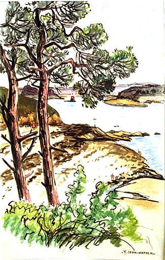 L'estuaire de la Rance vu de la Briantais [titre attribué]_0