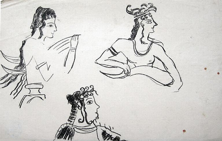 Art crétois : étude de tête (copie de motif) [titre attribué]_0