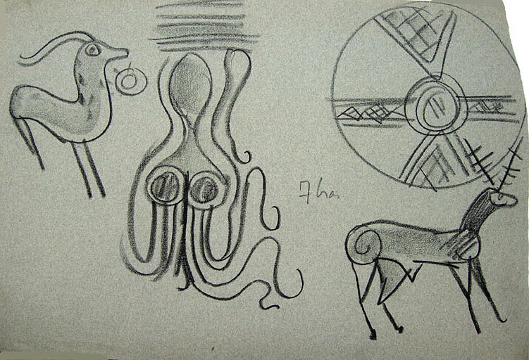 Crète : motifs ornementaux (croquis de motifs) [titre attribué]_0