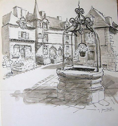 Rochefort-en-terre : le puits [titre attribué]_0