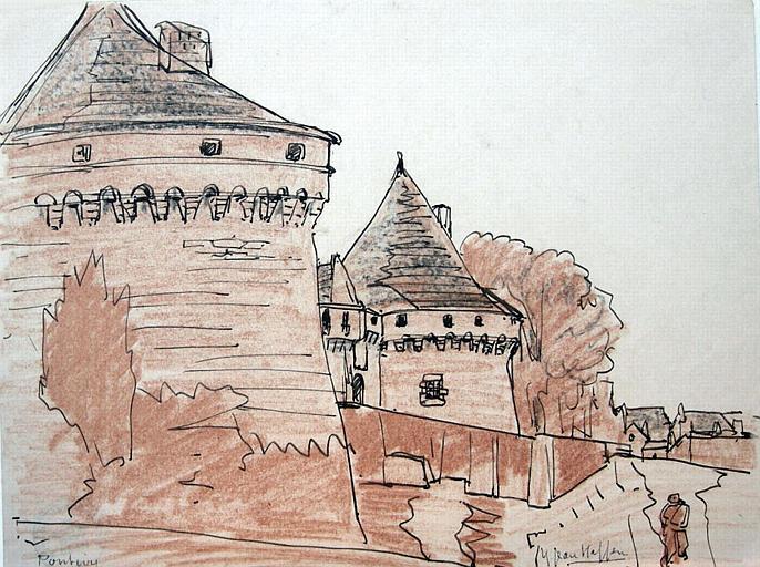 Les tours du château de Pontivy [titre attribué]_0