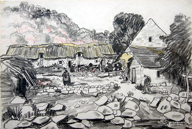 Le Faouët : la ferme de Basse-Bretagne [titre attribué]_0