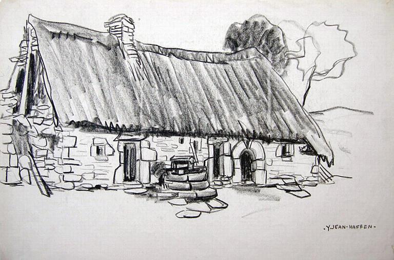 Le Faouët : ferme au toit de chaume [titre attribué]_0