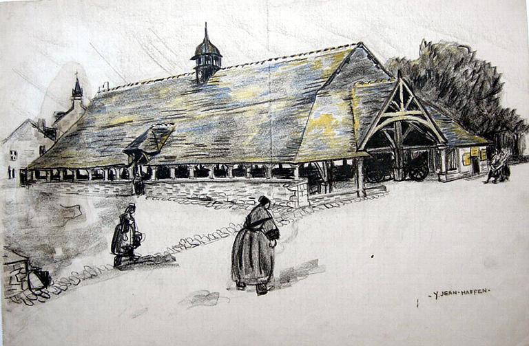 Le Faouët : les anciennes Halles [titre attribué]_0
