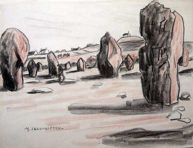 Carnac : les menhirs rouges [titre attribué]_0