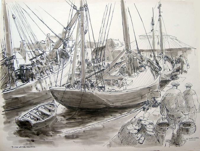 Pêcheurs au port d'Etel [titre attribué]_0