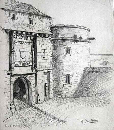 Le Mont Saint Michel : porte de roi [titre attribué]_0