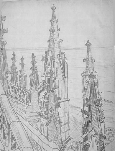 Le Mont Saint Michel : l'escalier de dentelle [titre attribué]_0