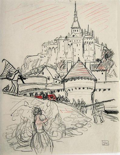 Le Mont Saint Michel : retour de la pêche [titre attribué]_0