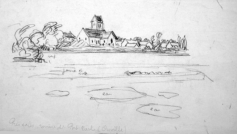 Ouville : rivière de port Bail (esquisse) [titre attribué]_0