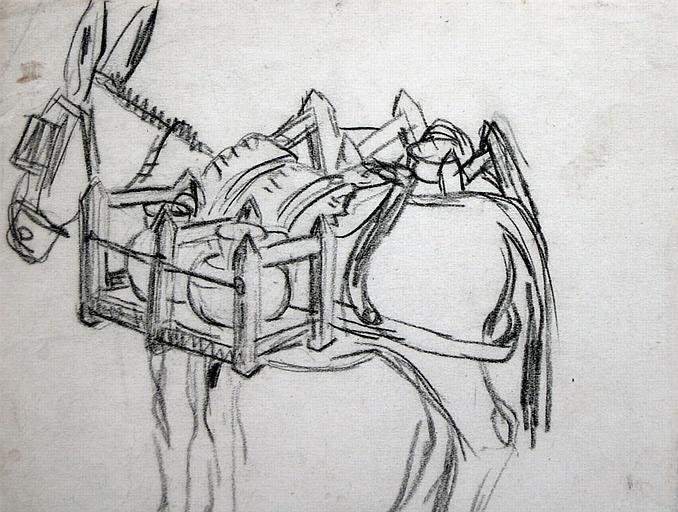 L'âne laitier (étude) [titre attribué]_0