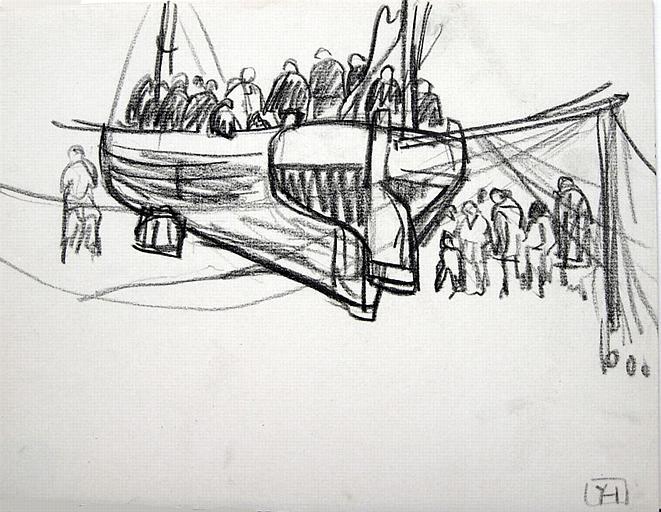 La foule dans une barque [titre attribué]_0