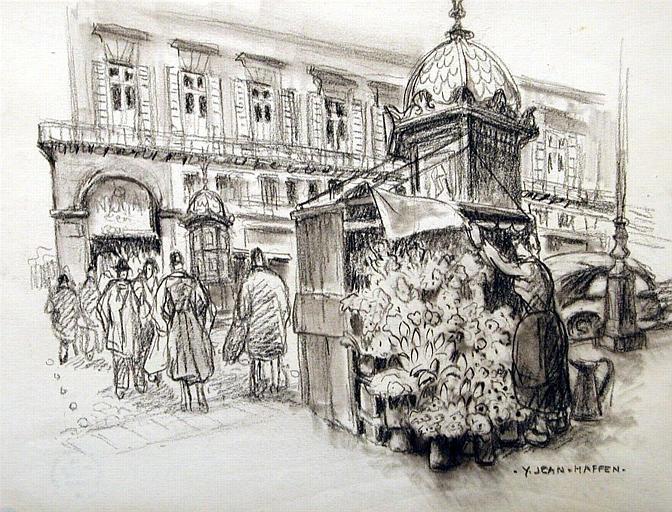 La marchande de fleurs, rue de Rivoli [titre attribué]_0