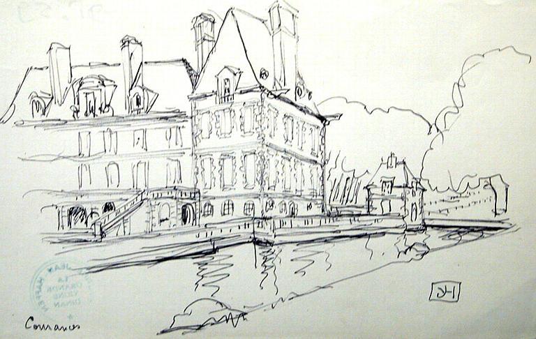 Château de Courances (esquisse) [titre attribué]_0