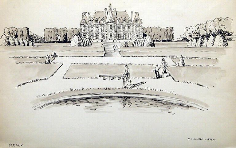 Château de Sceaux vu de face [titre attribué]_0