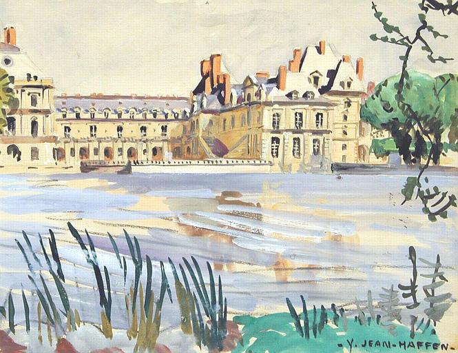 Château de Fontainebleau vu de l'étang [titre attribué]_0