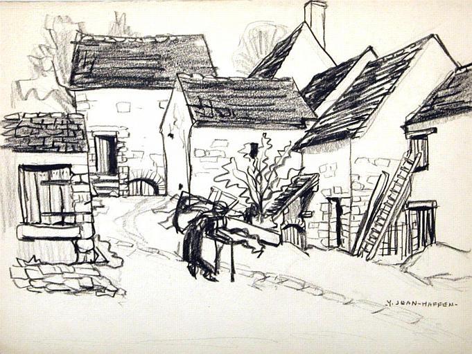 Saint Léger en Yvelines : maisons du bourg [titre attribué]_0