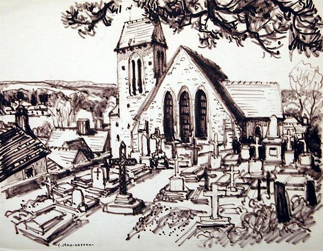 Saint Léger en Yvelines : Eglise et cimetière [titre attribué]_0