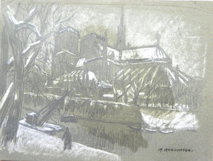 Notre-Dame sous la neige [titre attribué]_0