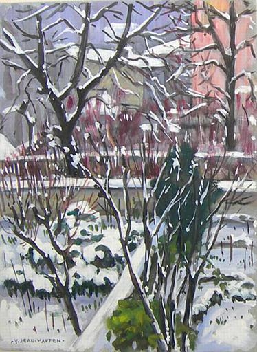 Sous mes fenêtres : jardin sous la neige [titre attribué]_0