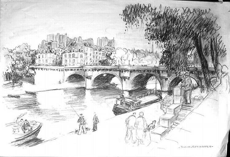 A la pêche près du pont Neuf [titre attribué]_0