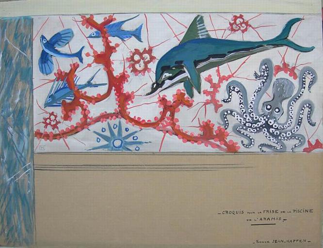 Dauphin et poissons volants [titre attribué]_0