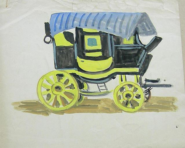 Patache jaune et noire (étude) [titre attribué]_0