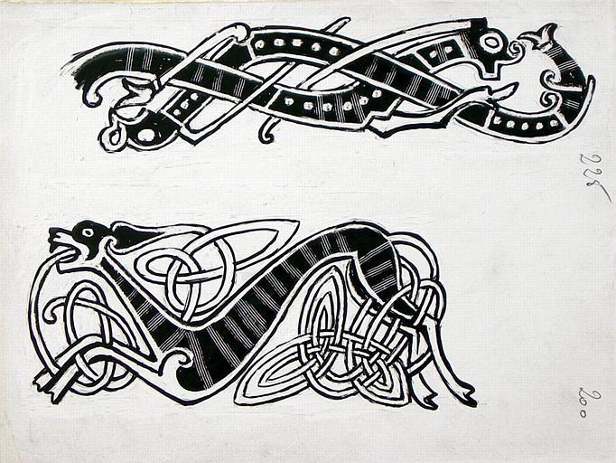 Copie de dessin d'ornements vikings (deuxième copie de motifs) [titre attribué]_0