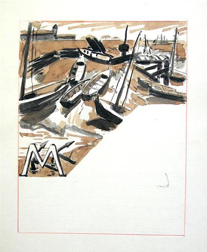 Pages 25, 26, 39 et 40 : barques sur le rivage [titre attribué]_0