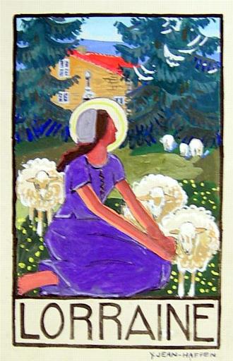 Lorraine : Jeanne et ses moutons [titre attribué]_0