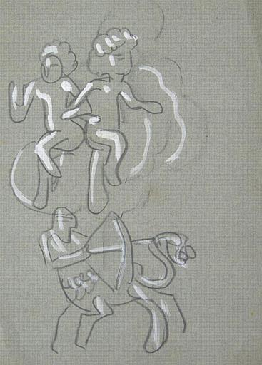 Enfant dansant et centaure (deux esquisses) [titre attribué]_0